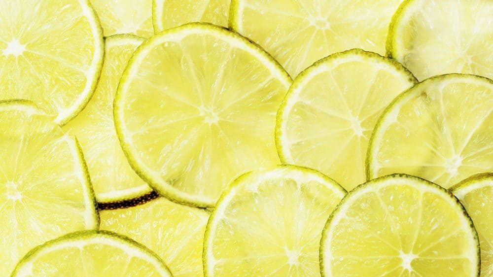 lemons and limes create citric acid for cleaning concrete patios