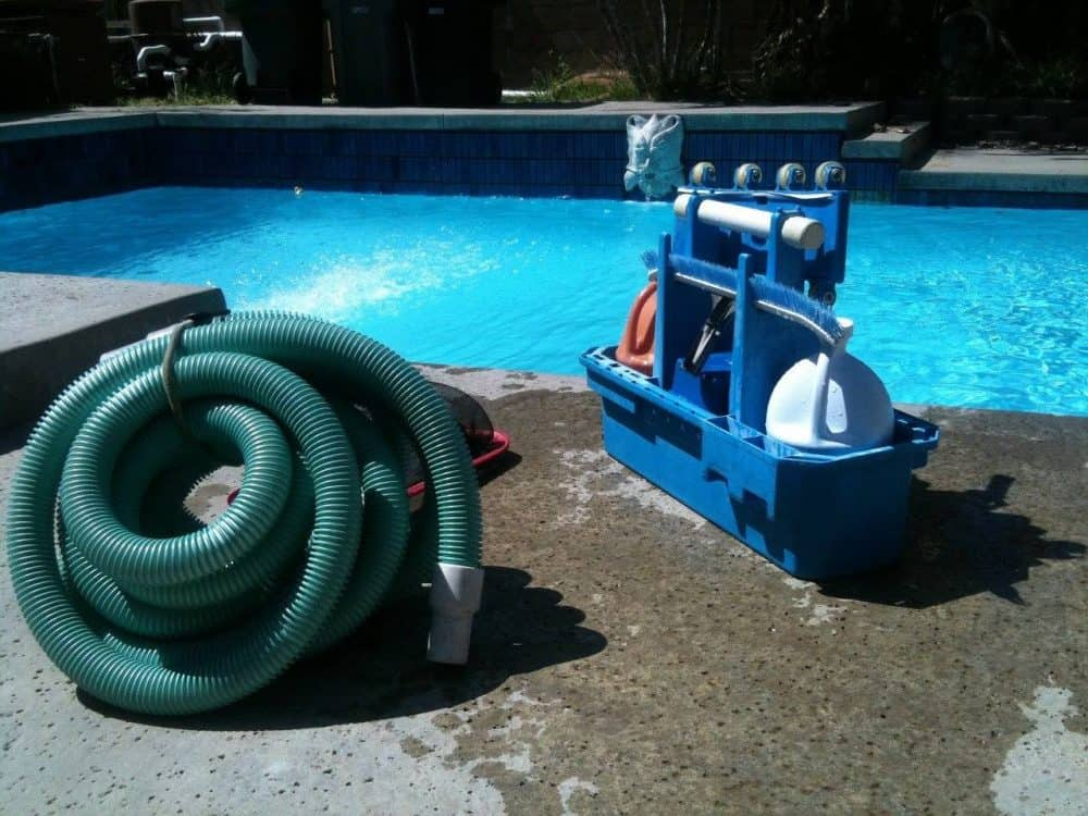 a pool cleaning kit for opening an above ground pool
