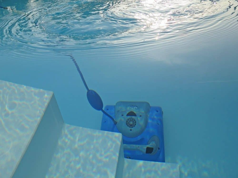 a robotic pool cleaner works well after you open an above ground pool