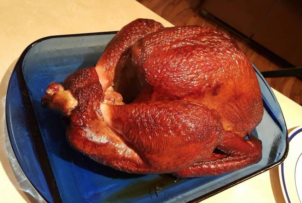 cooked trash can turkey
