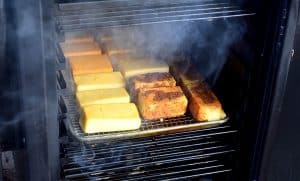 cheese cold smoking in a smoker