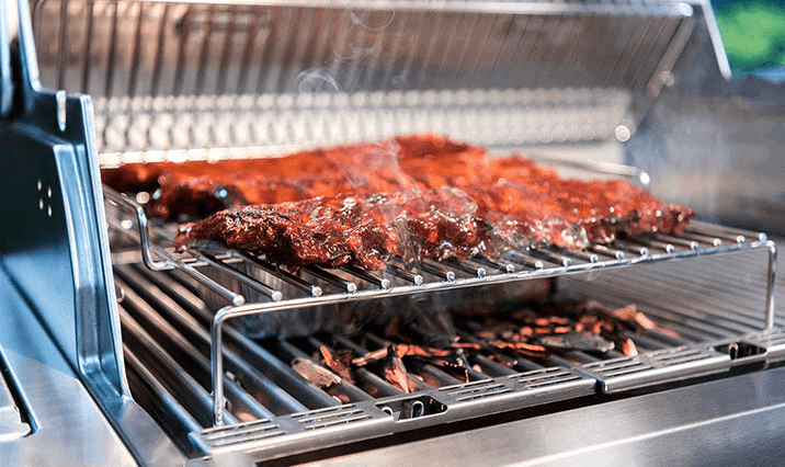 a great infrared grill cooking ribs