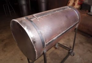 Cutting the doors out of a homemade oil tank smoker