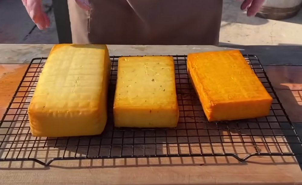 finished smoked gouda cheese
