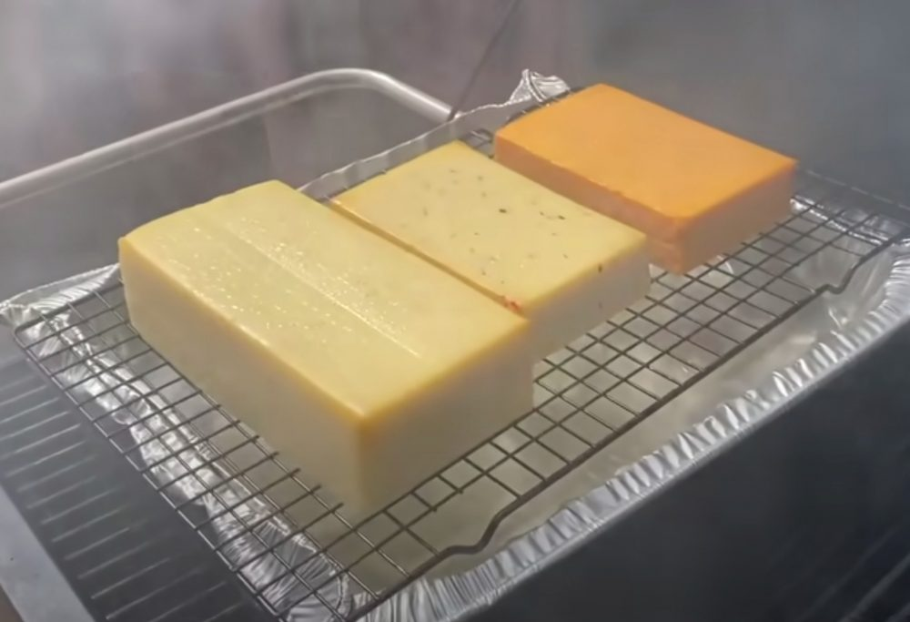 cold smoking cheese using the smoke setting on a traeger