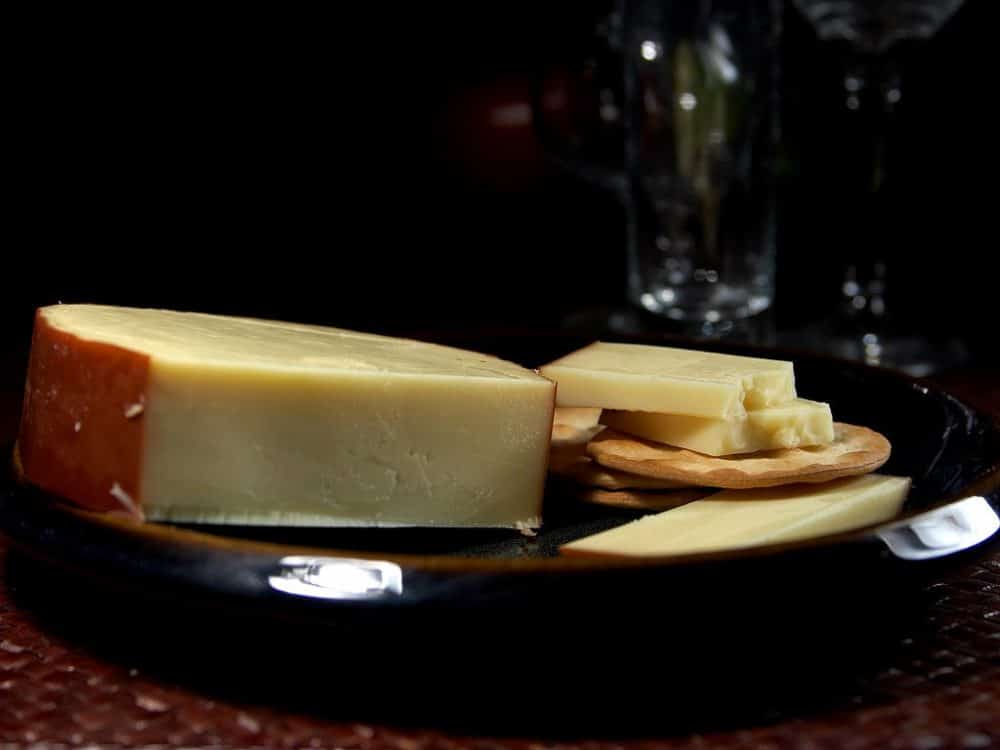 smoked gouda made at home on a smoker or grill