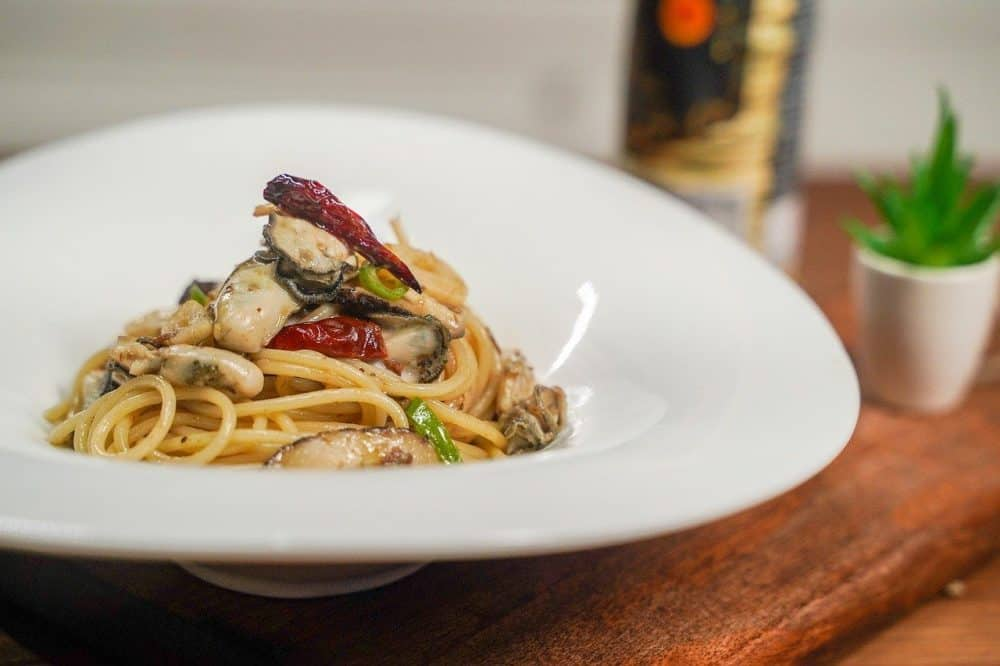 smoked oyster pasta