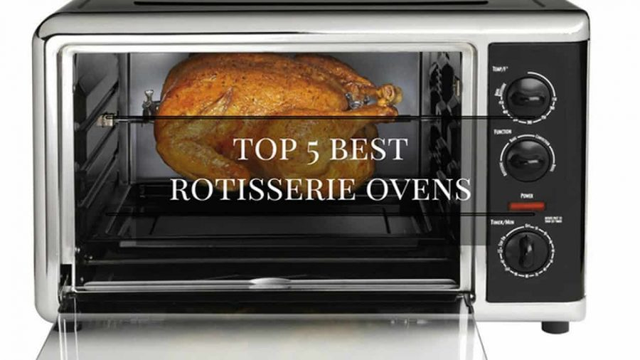 a chicken in one of the best rotisserie ovens