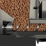 wood pellets in a traeger grill