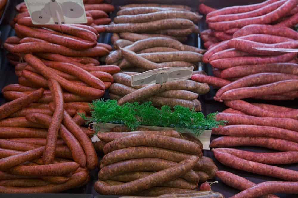 different types of bratwurst