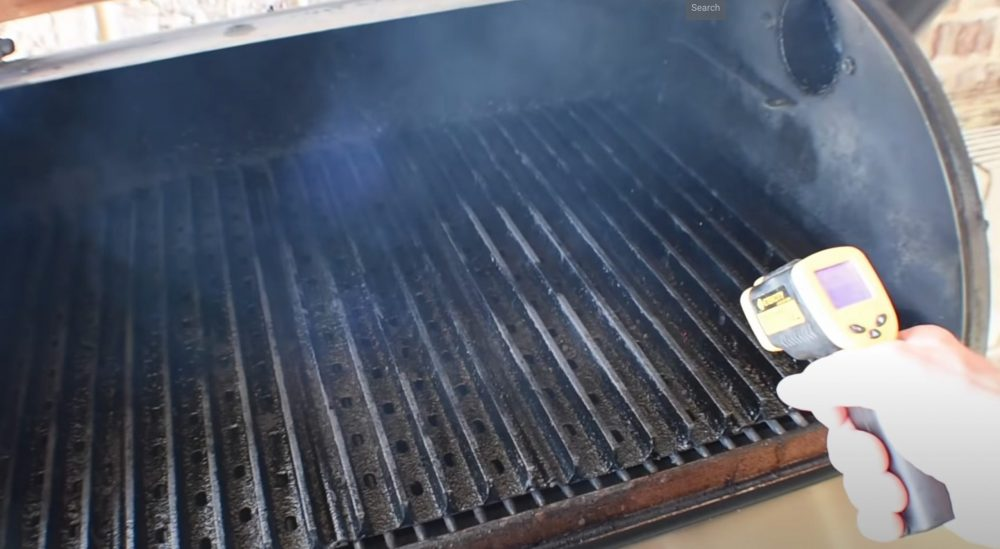 the grill grates getting hot on a pellet grill