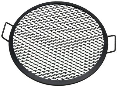Sunnydaze X-Marks Fire Pit Cooking Grate - Outdoor Round BBQ Grill - Heavy-Duty Campfire Rack - Camping Cookware - 22 Inch Diameter - Sturdy Steel Construction
