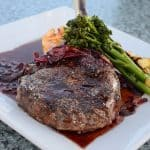 smoked lamb chop with Balsamic Butter Sauce