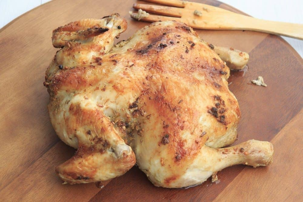 chicken roasted in an electric roaster