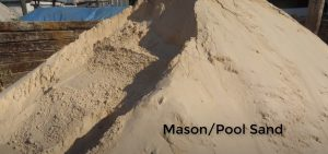 masonry sand for leveling ground for pool without digging