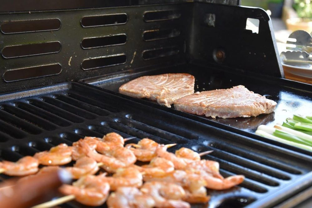 outdoor cooking station grill and smoker