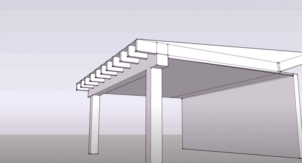 a design for building a patio cover with a corrugated metal roof