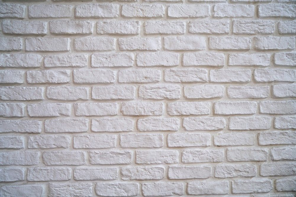 rough brick from which to attach string lights and hang without nails