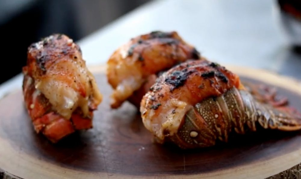 finished smoked lobster tails