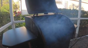 camp chef pellet grill making a lot of smoke