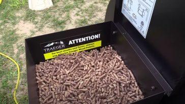 traeger hopper filled with pellets