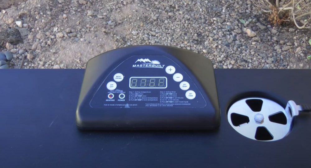 setting the temperature on the masterbuilt electric smoker
