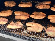smoked tilapia on a traeger smoker pellet grill