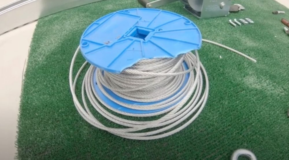 steel cable for a backyard batting cage