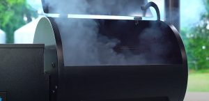 smoke coming out when seasoning a traeger pellet grill