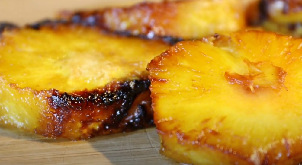 finished smoked pineapple