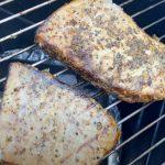 searing smoked swordfish steaks