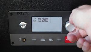 traeger ironwood 885 D2 controller set to 500 degrees